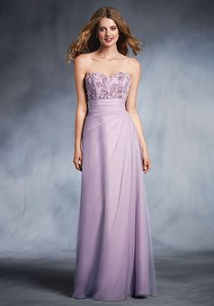 Purple Strapless Bridesmaid Dress | Style 545 by Alfred Angelo |  http://trib.al/5hmOmXB