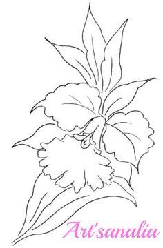 Art'sanália: Riscos para pintar orquídeas!
