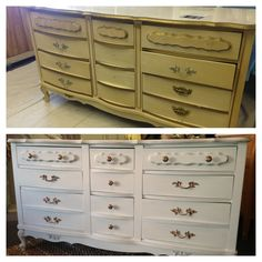 laminate french provincial dresser made over in american paint company home plate with hardware updated in
