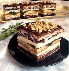 Sweet Desserts, Sweet Recipes, Delicious Desserts, Cake Recipes, Russian Desserts, Russian Recipes, Polish Desserts, Traditional Cakes, Pastry Cake