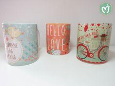 Mugs personalizados para amor y amistad. #Mugs #Diseño #Migas www.migastienda.co Mugs, Day, Tableware, Templates, Amor, Friendship, Dinnerware, Tumblers, Tablewares