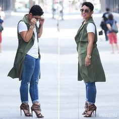 I like this casual outfit Stylish Outfits, Fall Outfits, Cute Outfits, Vest Outfits, Girl Fashion, Fashion Outfits, Womens Fashion, Fashion 2018, Denim Fashion
