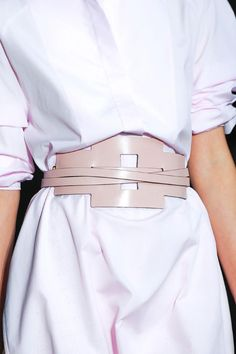 Tod's, Milan, Spring 2014 - the power of a magnificent belt! Without this one it's a hideous pillow case with arm holes !