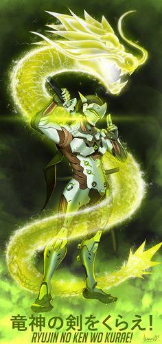 My fan art of Genji Shimada from Overwatch.