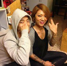 Bang Yongguk and sister Natasha.  Awww sibling love!! ^_^