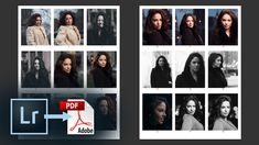 Export a PDF Contact Sheet from Lightroom CC – How to add a Watermark, Captions, & More - Photography, Landscape photography, Photography tips Digital Photography, Landscape Photography, Contact Sheet, Photoshop Tutorial, Adobe Photoshop, Ipad Photo, Good Tutorials, Simple Prints, African Fashion