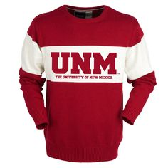 New Mexico Lobos Bruzer Bar Down Crew Neck Sweater - Red - $43.99