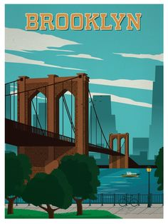 Image of Vintage Brooklyn Poster