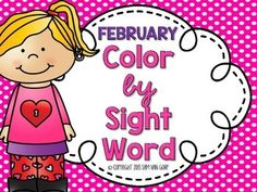 This packet will last you the ENTIRE month of February!February Is.  Groundhog Day!  Dental Health Month!  Valentines Day!  Presidents Day!  Black History Month!  Friendship Month!  100th Day of School!  Lincolns Birthday!  Washingtons Birthday!Use these interactive Color by Sight Word sheets as a learning companion with your February topics!
