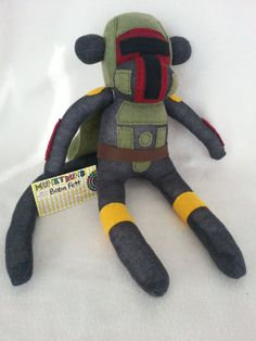 Boba+Fett+Sock+Monkey+by+MunkybunsSockToys+on+Etsy,+$50.00