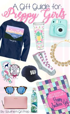 Southern Girl Prep gift guide!  Shop the Souths fastest growing preppy apparel company for great birthday presents, Christmas gifts or just o say I love you.  Great gift ideas for girls.  Preppy gift ideas for her.  Town and country gift ideas.