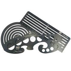 3 Piece billet aluminum art template kit for #beadrolling #metalart #jameyjordan