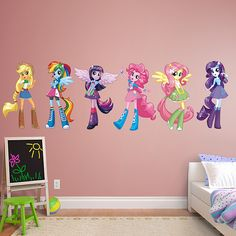 My Little Pony Equestria Girls Collection Real Big Fathead Peel Stick Wall