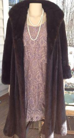 Mink Coat,Fur Jacket,Full Length Mink,Woman's Coat,Long Fur,1980s Fur, Ranch Mink,Perfect Gift Winter
