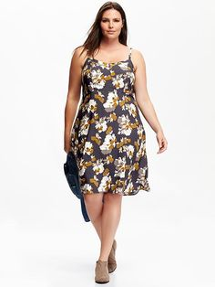 Women's Plus Printed Sundresses Product Image