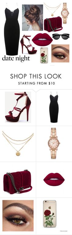 """Red Crush"" by fami474 ❤ liked on Polyvore featuring Victoria Beckham, Michael Kors and Lime Crime"