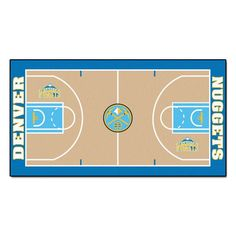 NBA Denver Nuggets 2 ft. 6 in. x 4 ft. 6 in. Large Court Runner, Team Colors