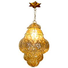 For Sale on - Gorgeous vintage Murano bubble glass cage lantern pendant. Glass has slight amber tint. Outside Hanging Lights, Ceiling Canopy, Ceiling Lights, Glass Cages, Lanterns For Sale, Chandelier Lamp, Chandeliers, Lantern Pendant, Murano Glass