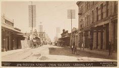 Houston Street from Soledad, Looking East, circa 1892, San Antonio, Texas