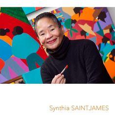 Dr Synthia SAINT JAMES (1949-) est une artiste visuelle multiculturelle américaine reconnue et maintes fois décorée. Auteure et illustratrice de 17 livres pour enfants, de 3 recueils de poésie, de 2 livres de croissance personnelle et d'une autobiographie, elle se dédie à sa création tout en étant enseignante et conférencière. Elle est aussi une femme sans enfant! femmesansenfant.com
