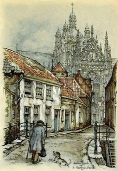 Anton Pieck was a Dutch painter and graphic artist. The work of Anton Pieck contains paintings in oil and watercolour, etchings. Anton Pieck, Photo D Art, Dutch Painters, Alphonse Mucha, Dutch Artists, Art Abstrait, Pablo Picasso, Art And Architecture, Love Art