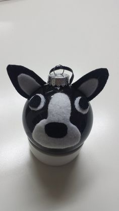 Handmade glass Boston Terrier Ornament on Etsy, $12.00