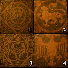 Handmade-encaustic-style-tiles-engraved-with-Medieval-designs-various-designs