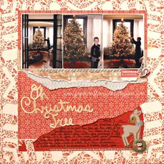 White Pines Scrapbook page design. #ctmh #Christmas #scrapbooking