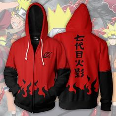 Naruto Sage Mode Zip Up Hoodie