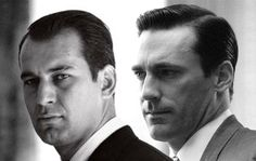 Some people think George Lois (left), is the inspiration for Don Draper.  Probably was.  He came up with I Want My MTV, and lots more.