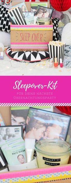 Ein tolles Sleepover-Kit für die nächste Übernachtungsparty mit deiner besten Freundin. Was in der Box nicht fehlen darf, findest du hier!