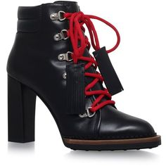 Tod's Tronch Lace-Up Ankle Boots (6,370 GTQ) ❤ liked on Polyvore featuring shoes, boots, ankle booties, lace up boots, short leather boots, lace up ankle booties, lace up booties and leather boots