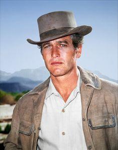 """paul newman en cowboy - Lui et sa fille Nell Potts étaient censés être dans le film """"La barbe à papa"""" (1973) dans les rôles principaux,"""