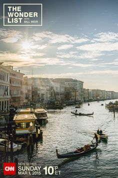 The Grand Canal in Venice, Italy. Is this floating city slowly sinking? The crew of CNN's new series The Wonder List with Bill Weir experiences the Acqua Alta floods firsthand- Sundays at 10pm ET on CNN, starting March 1, 2015. (Photo by Philip Bloom)