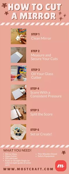 25 Glass Craft Ideas In 2021, How To Cut A Mirror Without Glass Cutter At Home