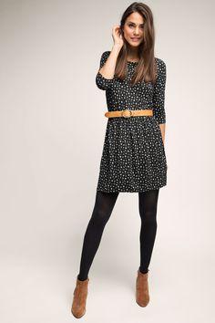 Esprit - Jersey Kleid mit Minimal-Print im Online Shop kaufen