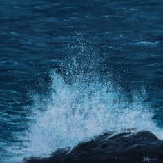 Voir l'image grand format Oil On Canvas, Waves, Outdoor, Image, Water, Painted Canvas, Ocean Waves, The Great Outdoors, Wave