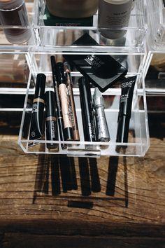 Organização de maquiagem, como configurar um balcão de beleza