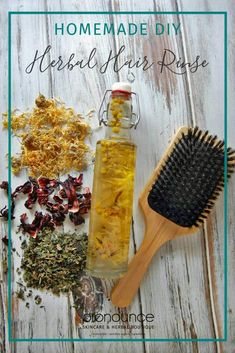 DIY Herbal Hair Rinses • An herbal hair rinse is an inexpensive way to treat and strengthen your hair and your scalp. Here are 5 different DIY herbal hair rinses for all hair types.