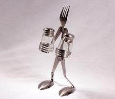 Salt and Pepper Fork Art Sculpture Spoon and Fork Art Sculptures