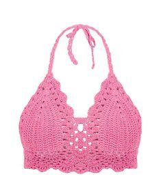 Festival Bohemian Crochet Halter Bikini Top by WomensScarvesTrend