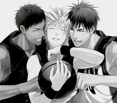 Aominie, Kuroko, Kagami. I love these 3 together so much, you have no idea.