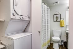 Our homes feature convenient in-unit washers and dryers. Dryers, Washers, Stacked Washer Dryer, Second Floor, Apartments, Floor Plans, Home Appliances, The Unit, Homes