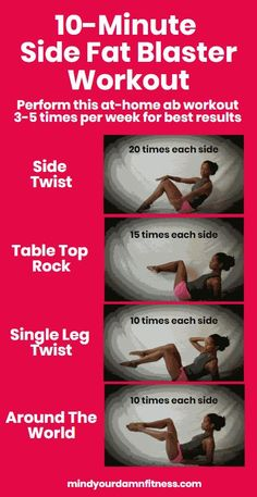 Do these exercises regularly to effectively get rid of side fat and get strong and toned abs! & burn side fat & love handles & The post Best Ab Workouts: Get Rid Of Side Fat – Mind Your Damn Fitness appeared first on Shane Carlson Fitness. Best Ab Workout, Abs Workout For Women, Ab Workout At Home, Workout For Beginners, At Home Workouts, Ab Exercises For Women, Side Workouts, Belly Exercises, Side Fat Workout