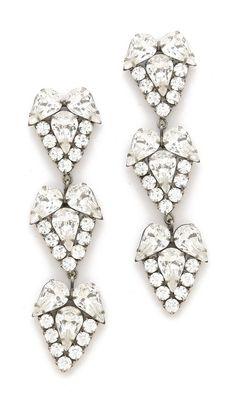Clusters of Swarovski crystals on DANNIJO earrings Bridal Accessories, Wedding Jewelry, Jewelry Box, Jewelry Accessories, Fashion Accessories, Fashion Jewelry, Wedding Earrings, Jewlery, Bling Bling
