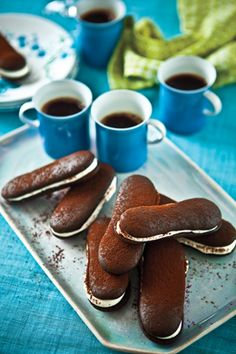 Coffee and Mini Chocolate Cakewiches