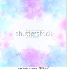 Abstract artistic watercolor splash background - Vector Illustration