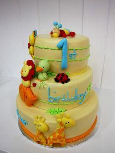 Fun animal cake