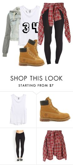 """""""KC UNDERCOVER"""" by fasionista-1154 ❤ liked on Polyvore featuring H&M, Timberland, Forever 21, R13, women's clothing, women, female, woman, misses and juniors"""