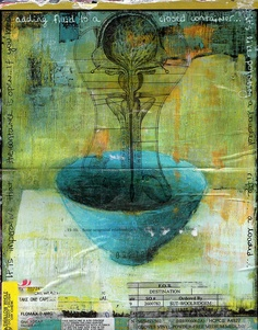 closed container ~ mixed media ~ by elke glendenning